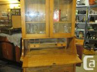 THIS ANTIQUE IS 40 INCHES WIDE, 19 INCHES DEEP AND 86