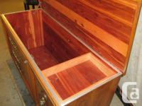 THIS HOPE CHEST IS 18 INCHES DEEP, 24 INCHES HIGH AND