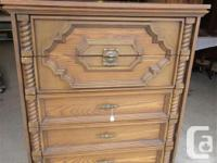 """THIS CHEST IS 37 1/2"""" WIDE, 19"""" DEEP & 44"""" HIGH. IT HAS"""