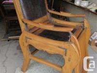 THIS BARBER CHAIR WAS PROBABLY DOUKHOBOR BUILT. WHEN