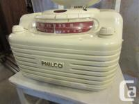 THIS COMPACT PHILCO RADIO IS 14 1/2 & quot WIDE, 13 1/2