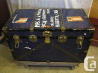 THIS STEAMER TRUNK WAS SOLD BY EATONS. GRANDMA USED IT