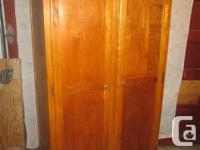 "THIS WARDROBE IS 21"" DEEP, 65"" HIGH & 36 "" WIDE. IT HAS"