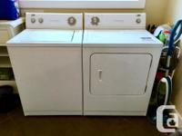 Washer and dryer are both in good working order. In