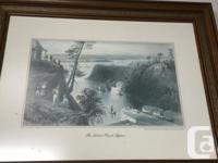 Etching Rideau Canal Bytown from Metropolitian Life