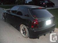 1996 Honda  Hatchback / 2003 Acura RSX Front End   -