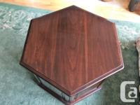 Ethan Allen Georgian Court Hexagonal Storage End Table