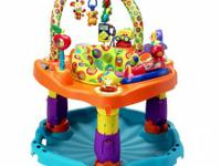 The Evenflo Exersaucer SmartSteps ABC has more fun and