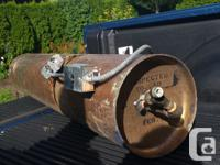 This silicon bronze tank is suitable for use as a hot