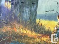 Everett Woodson (1933-) Oil On Canvas Barn In Field