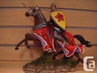 Warrior on horse figurine by Excalibur.  Comes with