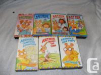 bunches of ARTHUR stories on vhs. come sign up with