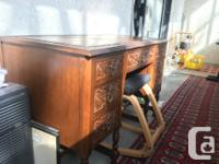 I bought this desk for $250 from an antique furniture