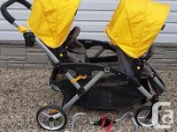 Lightweight design Folds easily with both seats. Six