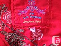 THIS BEAUTIFUL EMBROIDERED RED TOP MADE FROM EXCLUSIVE