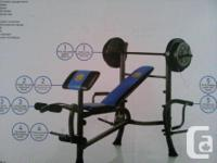 Exercise Bench and Weights (Assembled) The