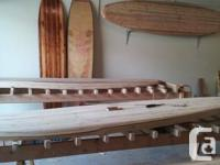 Hand made hollow paddle boards, beginning at $900.00.