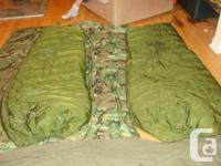 EXTREME COLD SLEEPING BAG COMPLETE WITH: INNER DOWN