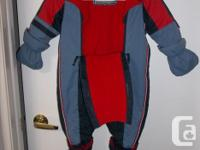 GUSTI snowsuit size 24 months for little boy. Made big.