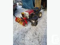 "f/s or trade $1000 obo rideing mower with 38"" 2 stage"