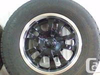 I have a set of black aluminum wheels with studded