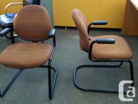 """Fabric Office Chairs Steel Base/Arm Rests 24"""" wide 33"""""""
