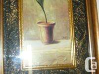 Beautiful potted iris. Custom framed. Purchased for