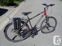This is a hybrid bike, wheels are 700c, There is a