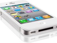 You are looking for an iPhone 4S-16GB. White in color.