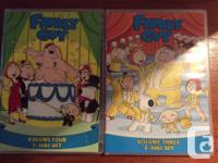 Family Guy DVD sets for seasons 1-5 plus Parental Terms