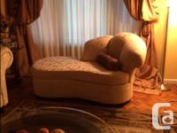 BEAUTIFUL WHITE SOFA, LOVE SEAT AND FANCY LOVE SEAT