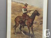 This is a famous western print by Frederic Remington