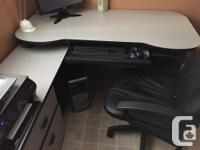 This large corner desk is great for any office or in