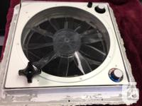 3 - speed, temperature controlled sensor powered fan