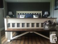 Rustic farm house bench can be used for a multitude of