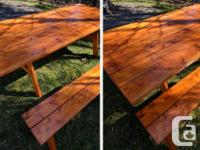 6, 8, 10, 12+ foot indoor/outdoor farmhouse tables and