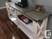 These tables are custom hand made farmhouse style