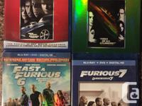 Included with the blurays: The Fast and the Furious