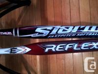 """(2) 31"""" 19oz. aluminum bats - Easton Reflex(-12) and"""