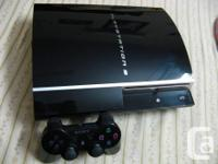this is modded Fat PS3, you could play backup off HDD
