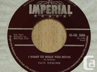 """Fats Domino 45-RPM """"I?m Gonna Be A Wheel Someday"""" / """"I"""
