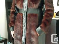 Brand new faux fur Winter Coat Size 12 Tall Ordered
