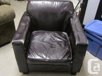 Selling my faux leather armchair for 35$ open to