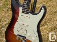 This guitar is in awesome condition. Features include
