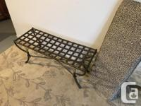 Very cool fender bench with leopard print cushion in as