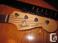 Fender Jazz Fretless Electric Bass Guitar. Factory made