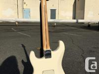 This made in Mexico Fender Stratocaster in Olympic