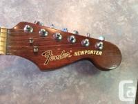 Selling a Fender Newporter acoustical guitar, Circa