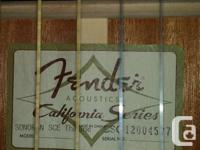 The Fender Sonoran Acoustic-Electric Thinline Guitar is
