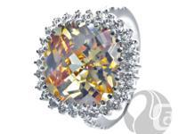 FERI Sun-burst CZ - Ring  925 fine sterling silver -